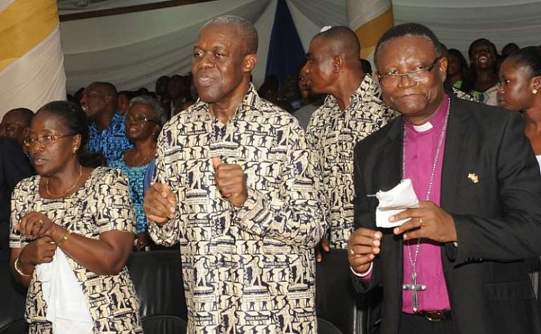 Vice President Amissah-Authur at Golden Jubilee Service of the Bible Society of Ghana