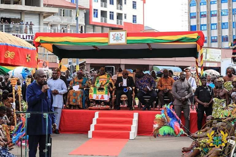 Sod Cutting For Phase Ii Of Kumasi Central Market Project