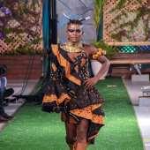 Wiyaala models at Accra Fashion Week