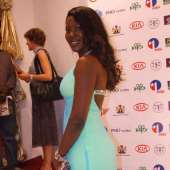 Pics: Jackie, Stephanie and Omotola on the AMAA Sicle Cell Red Carpet