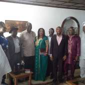 All Nigerian Community-ghana Visits Ex President John Kufuor In His Home