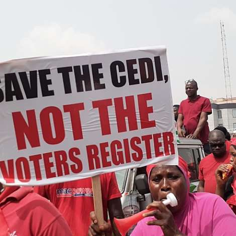 'Yenpini' Demo Hit Kumasi Against New Voters' Register