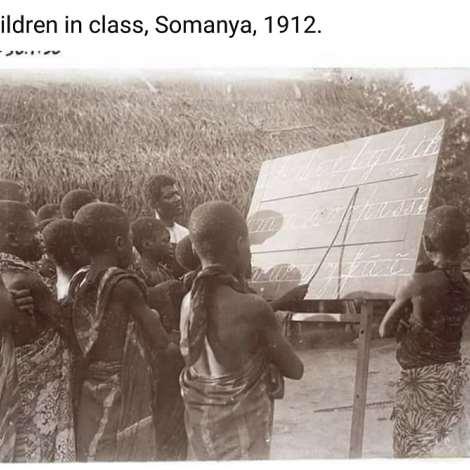 Children in class, Somanya, 1912