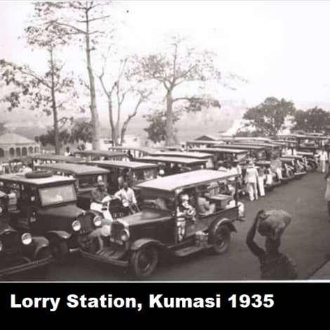 Lorry Station, Kumasi 1935