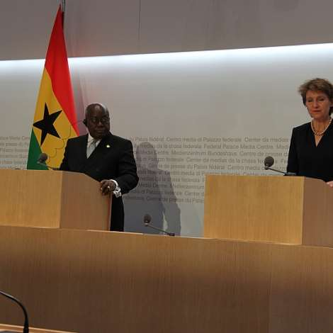Official Visit By President Nana Akufo-Addo To Switzerland On Friday 28.02.2020