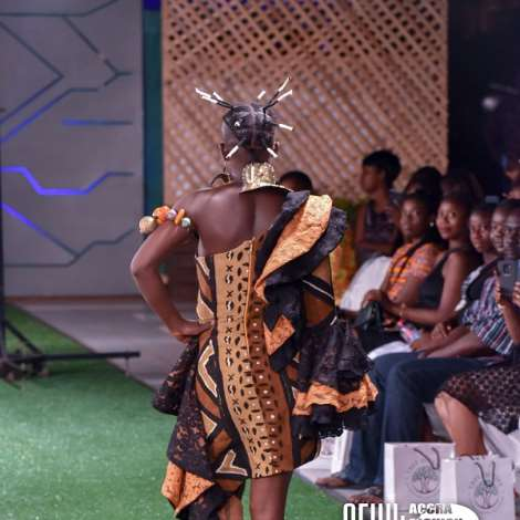 Wiyaala models at Accra Fashion Week