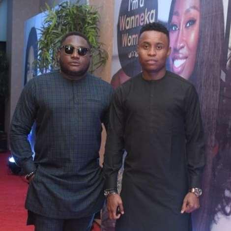 L-r- Ajebo & Pencil Comedian