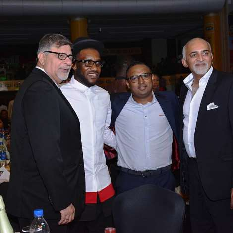 MANAGING DIRECTOR, 7UP BOTTLING CO, SUNIL SAWHNEY, JAY JAY OKOCHA, HEAD OF MARKETING 7UP, AND A GUEST