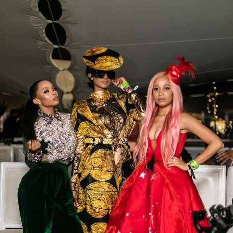 Bonang Matheba, Toke Makinwa And Sister Deborah At The Durban July 2019