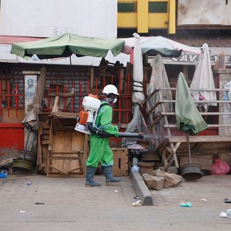 Accra Markets, Lorry Parks See Another Massive Disinfection, Fumigation