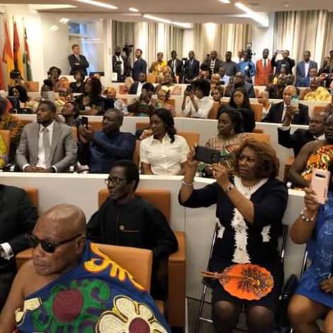 Asantehene Visits The African Union Representational Mission To The Usa