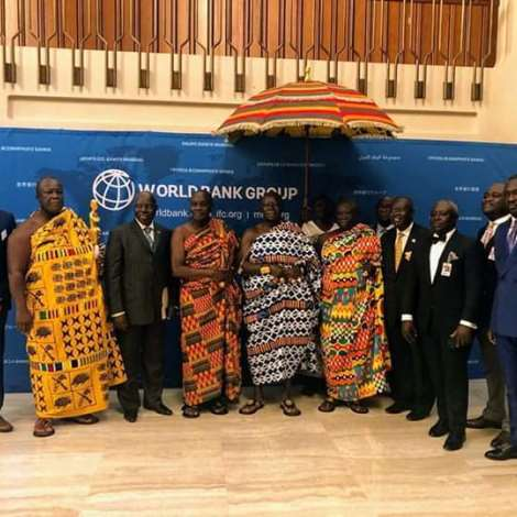 Otumfuo Osei Tutu Ii, Paid An Official Visit To The World Bank In Washington Dc