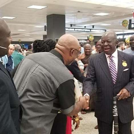 Asantehene Arrives In The United States