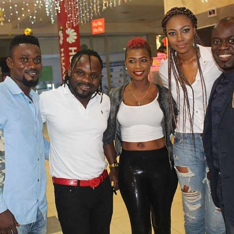 BISMARK THE JOKE, BIG J, SELLY, YVONNE AND NATHANIEL ATTOH