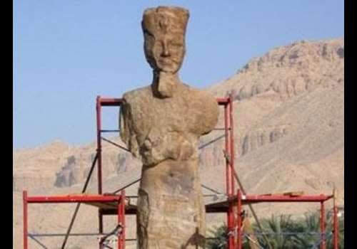 AFP. Amenhotep III s statue. Luxor, Egypt.<br>
