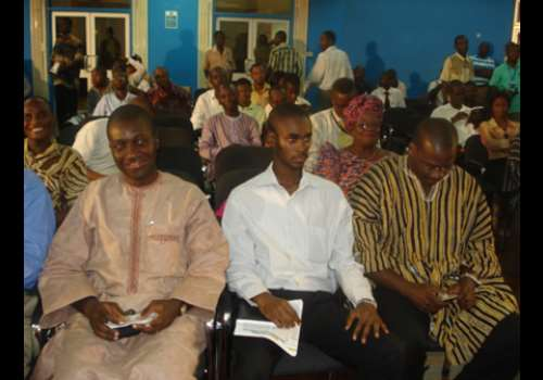Two fellows of IMANI, Mr. Djabanor Narh, Partner, Ernst & Young,  seated left, and Mr. Edwin Provencal , CEO of Exzeed Ghana Ltd. seated right
