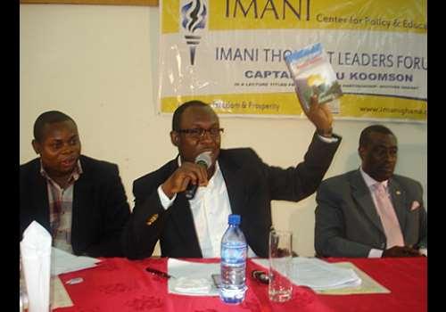 Mr. Kofi Bentil introducing the