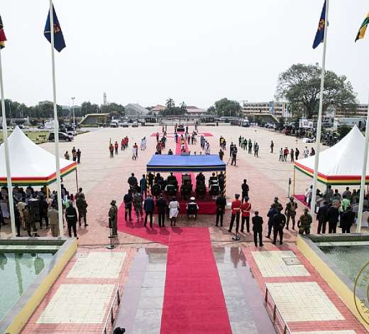 64th Independence Day Celebration @ Jubilee House Forecourt.