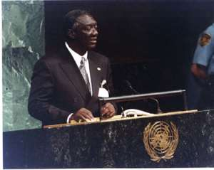 Kufuor leaves for 57th session of UN