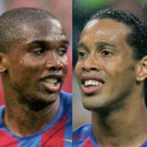 Eto'o and Ronaldinho have made peace