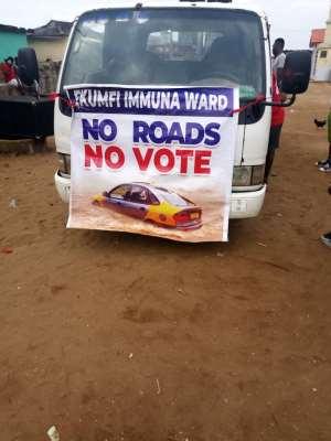 C/R: No Road, No Vote — Ekumfi Residents Protest
