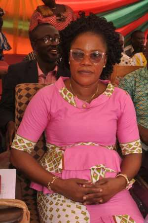 The District Chief Executive for Obuasi; Honorable Faustina Amissah