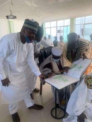 Accra Zango Chief Signs Book Of Condolence Of Late Emir Of Zazzau's