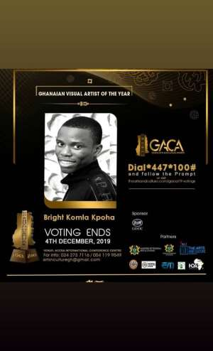 Realpen Pencil Nominated 'Ghanaian Visual Artist Of The Year'