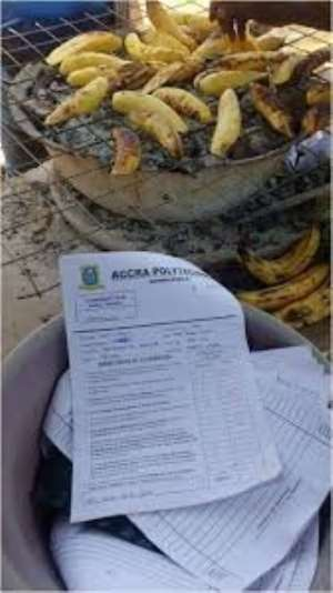 Confidential Docs Used To Wrap Roasted Plantain Seen
