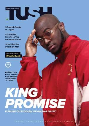King Promise Covers 25th Issue of Tush Magazine