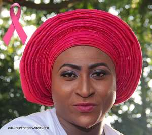 Man Turns Woman To #MakeUpForBreastCancer In Akwa Ibom [Photos]