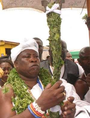 GBƐTSƆƆLƆ Nii Ashitey Akomfra III as the Paramount Chief of Teshie