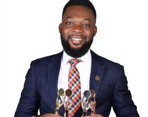 David Mawuena Marfo with his 4 AVON presidential awards