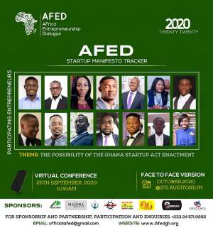 Manifesto Season: AfED Pushes For Policy Framework For Ghana Start-Up Act