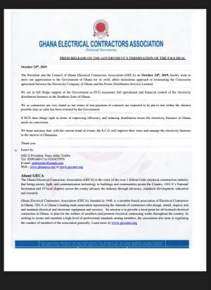 PDS Deal Termination Meticulous — Electrical Contractors Applaud Govt