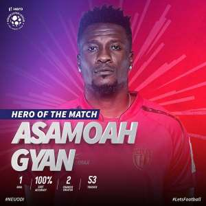 VIDEO: Asamoah Gyan's Second Half Strike Hands NorthEast United First League Triumph