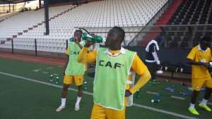 PHOTOS: Medeama's only training session ahead of TP Mazembe cracker