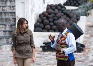 Emotional Moments Greet Melania Trump At Cape Coast Castle