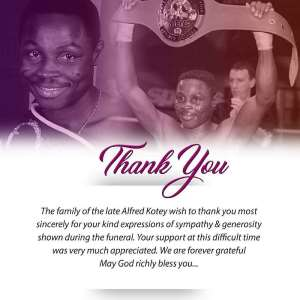 GBA And Alfred Kotey Family Thank All