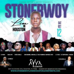 Stonebwoy, Nana NYC and Others To Perform At AYVA Center In Houston