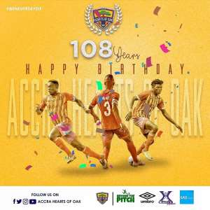 Hearts of Oak Celebrate 108 Anniversary Today