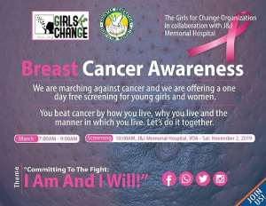Girls For Change, J&J Hospital Take Steps Against Cancer  -Call For Government's Commitment