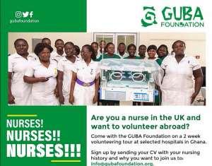 Guba Foundation Hosts Nurses Volunteering Tour In Ghana
