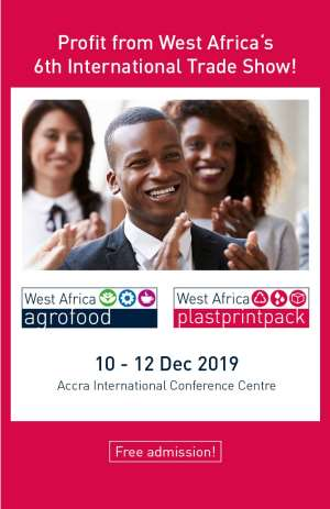 The 6th Agrofood & Plastprintpack West Africa Trade Show Set For December 10th