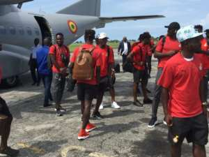 2021 AFCON Qualifiers: Black Stars Arrives In Sao Tome Ahead Of Monday Encounter [VIDEO]