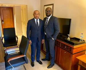GFA Boss Meets CAF President Ahmad Ahmad; Assures Him Of Support