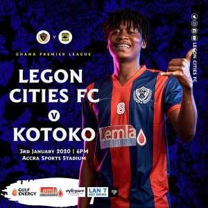 Legon Cities FC vs Asante Kotoko: Tickets Prices Announced