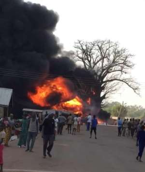 Fire Guts Filling Station, Spread To Houses In Tolon
