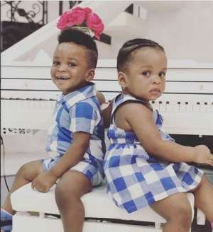 Paul Okoye's Twins Slay in Uniformed Outfit