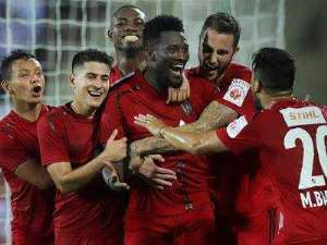 VIDEO: Watch Asamoah Gyan's Sublime Finish For NorthEast United Against FC Goa